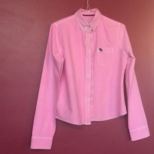 Abercrombie Kids Button Up Bright Pink Blouse S XL